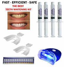 44% TEETH WHITENING PROFESSIONAL DENTAL SYSTEM KIT AT HOME 4 GEL + 1 LIGHT USA !