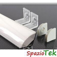 Barra Profilo ANGOLARE 1m per strisce LED in alluminio con protezione satinato