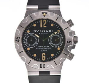BVLGARI Diagono Scuba SCB38S Chronograph Automatic Men's Watch L#103483