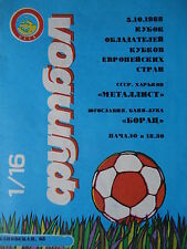 Programm EC 1988/89 Metalist Charkow - Borac Banja Luka