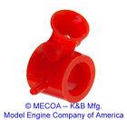 COX ENGINE .09 Medallion Carb Carburetor mount original Red nylon