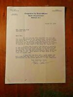 John Taber (1880-1965) ALS Signed Letter 1939 US Congressman New York Autograph