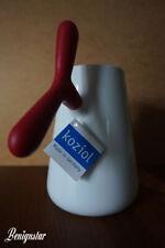 koziol A-Pollo Red Porcelain Milk Jug Coffee Pot Large