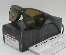 OAKLEY matte black/bronze POLARIZED HOLBROOK OO9102-98 sunglasses! NEW IN BOX!