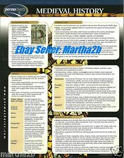 Medieval History Knights Castle Permacharts Quick Reference School Study Guide