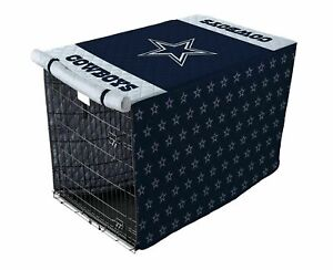 "NFL Quilted Crate Cover - Dallas Cowboys 30"" x 48"" Extra Large Kennel Cover NIB"