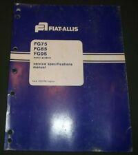 FIAT ALLIS FG-75 FG-85 FG-95 MOTOR GRADER SERVICE SPECIFICATIONS REPAIR MANUAL