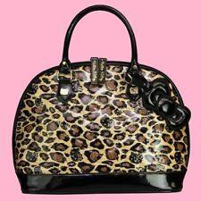 Hello Kitty Handtasche Leopardmuster & Prägung gold 3 Innentaschen