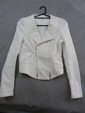 Seed Heritage 6 White Denim Motorcycle Jacket