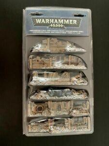 GW Warhammer 40K 40000 Urban Barricades And Walls Terrain Ruins Scenery NEW