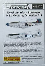 Xtradecal 1/48 X48176 North American P-51D Mustang/Mustang Mk IV decal set Pt1