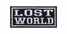 'Lost World' Biker heavy rocker Patch Patch sotana motocicleta badge bordado