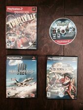 PS2 4 Video Game Lot-TMNT, Thrillville,Rebel Raiders,Harry Potter Quidditch Cup