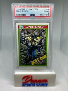 1990 Marvel Universe Hulk (Gray) #17 PSA 9  MINT Impel Avengers Comics