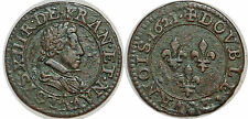 LOUIS XIII DOUBLE TOURNOIS 1621 A PARIS G.8
