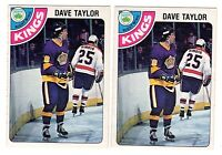 1X DAVE TAYLOR 1978 79 OPC #353 RC Rookie NRMT+ O Pee Chee Kings Lots Available