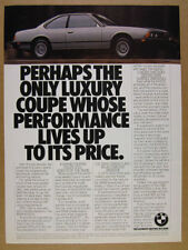 1981 BMW 633CSi 633 CSi silver coupe car photo vintage print Ad