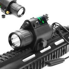 New listing Combo Green Dot Laser Sight Bright Led Flashlight Fit 20mm Picatinny Rail Hunt