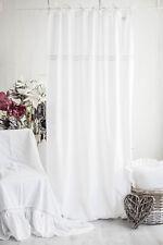 JULIA WEISS Vorhänge 2x(120x250cm) Gardinen Landhaus Shabby Franske Curtain CHIC