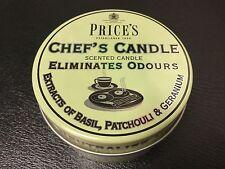 Price's Chef's Scented Candle Eliminates Odours Basil Patchouli & Geranium