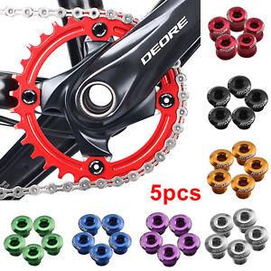 5pcs Flexible Cycling Chain Ring CNC Aluminum Single Crank Chain  Bolt Ring Fit