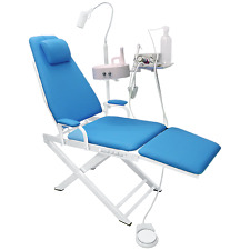 Dental Portable Chair+Water System Supply+Waste basin+5W LED Surgical Light Lamp