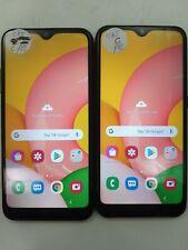 Lot of 2 Samsung Galaxy A01 A015Az Cricket Check Imei Fair Condition Ip-021