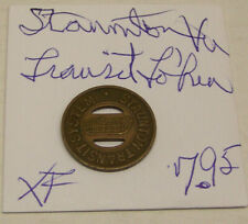 Transit Token - Staunton Transit System - Staunton, Virginia - Good For One Fare