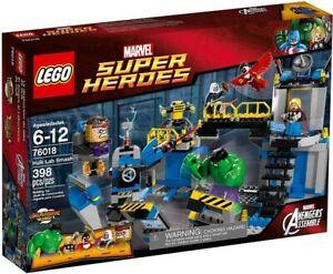 LEGO Super Heroes Hulk Lab Smash (76018) Building Kit 398 Pcs