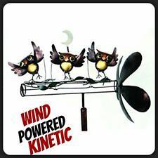 New Dancing Owls Whirligig Wind Powered Kinetic Yard Deco Spinner Free Pri Ship