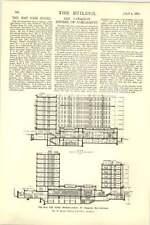 1927 May Fair Hotel Berkeley Street Diagrams Ground Floor Plan All Room Restnt