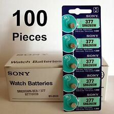 100 NEW SONY 377 SR626SW SR66 V377 1.55V watch battery (100 button Cells)