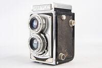 Tokiwa Firstflex 6x6 120 Roll Film Camera with 8cm f/3.5 Lens PARTS OR REPAIR