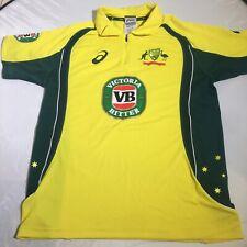 Asics Cricket Australia One Dayer Zip Neck Jersey VB Motif Bright Yellow SML