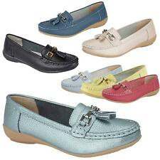 Womens Leather Shoes Tassels Loafer Pumps Ladies Flat Boat Moccasin Slippers