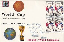 GB - QEII - 1966 World Cup - FDC - 4d Stamps - Slough CDS Cancel