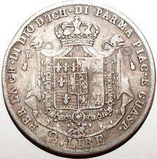 Tres rare 2 Lire Italie Parme 1815 argent tirage 22,125 (W210)