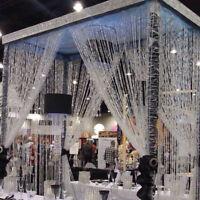String Curtain Room Divider Crystal Beads Door Window Panel Wedding Home Decor