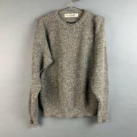 Vintage Le Tigre USA Black Grey Mix Knit Long Sleeve Sweater Size Medium
