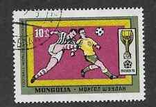 Sello usada Mongolia, usada sello conmemorativo 1970-Copa Mundial de fútbol México
