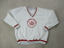 VINTAGE Guess Sweater Adult Extra Large Gray Red Spell Out Logo ASAP Mens 90s*
