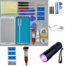 Samsung Galaxy Note 2 Front Glass Screen Replacement Repair Kit WHITE UV TORCH