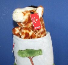 Plush pop up giraffe in house hand puppet Aurora pretend play w/ tag