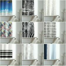 100% POLYESTER FABRIC MODERN DESIGN HOOKLESS WATERPROOF WASHABLE SHOWER CURTAIN