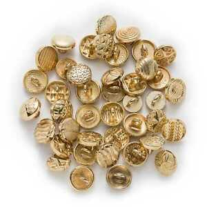 10pcs Multiple Small Metal buttons for Sewing Clothing Handbag Shoes Hats 8-10mm