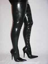 """PROMOTION ! ! LATEX RUBBER FETISH BOOTS SIZE 4-12- HEELS 5,5""""-13CM  POLAND 408"""
