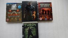 PS3 Steelbook Killzone 3 Collectors,Mass Effect 3 PS3,Brothers in Arms,Turok PS3