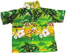 Hawaiian Shirt Beach Birthday Party Boys Girls Kids Childs 7-8 Years Green