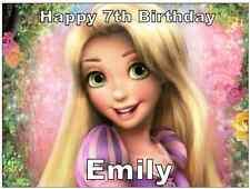 Disney Princess Rapunzel Personalised Cake Topper Edible Wafer Paper A4