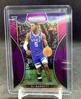 RJ Barrett 19-20 Panini Prizm Draft Picks Purple Prizm SP RC #66 Duke Knicks HOT